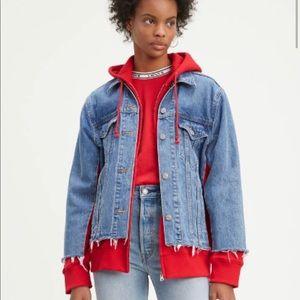 Levi's ex boyfriend hybrid trucker jean jacket